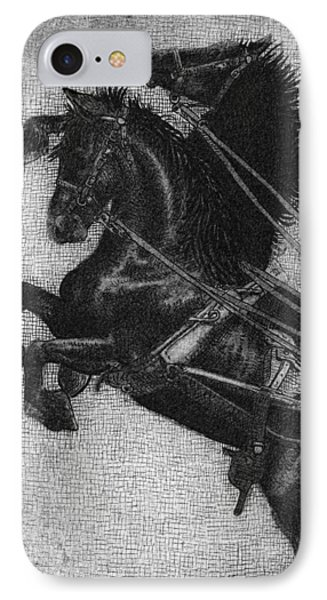 Rearing Horses IPhone Case by Eric Fan