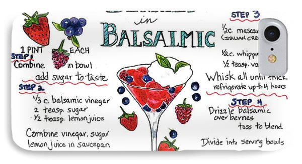 Recipe- Berries In Balsamic IPhone Case