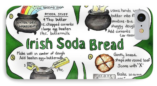 Recipe - Irish Soda Bread IPhone Case