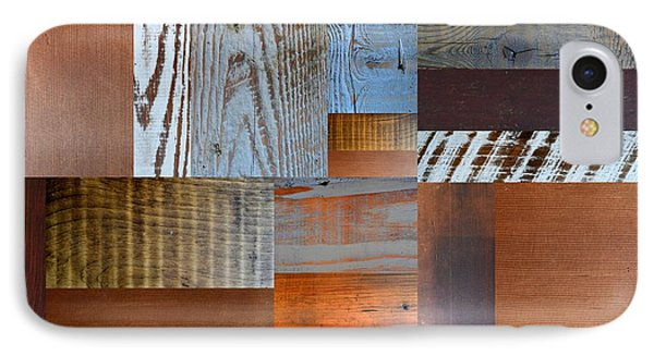 Reclaimed Wood Collage 1.0 IPhone Case by Michelle Calkins