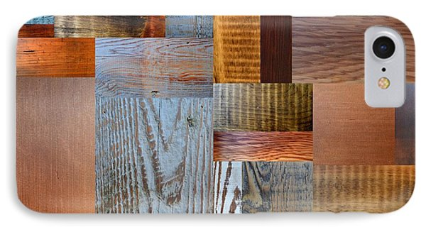 Reclaimed Wood Collage 2.0 IPhone Case by Michelle Calkins
