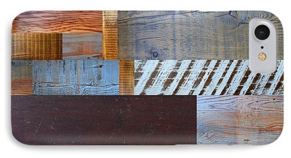 Reclaimed Wood Collage 3.0 IPhone Case by Michelle Calkins