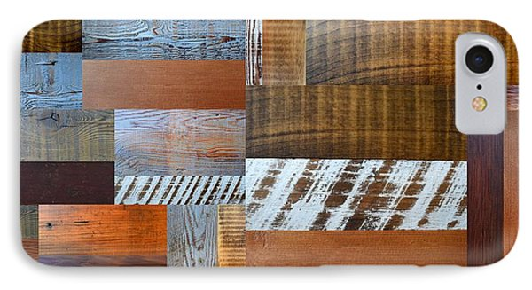 Reclaimed Wood Collage 4.0 IPhone Case by Michelle Calkins