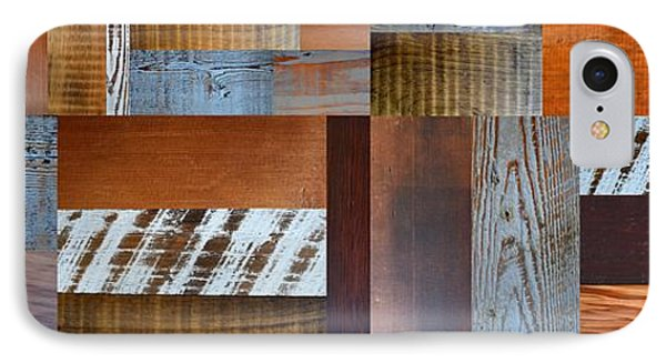 Reclaimed Wood Collage 5.0 IPhone Case by Michelle Calkins