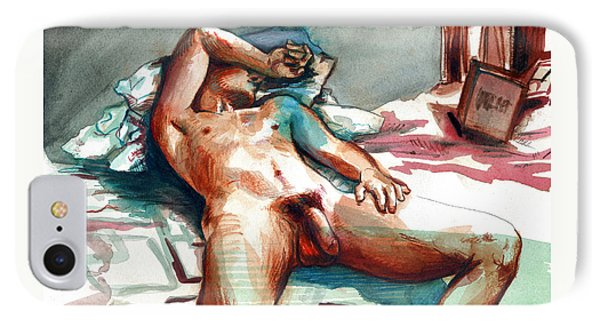 Nude Reclined Male Figure IPhone Case