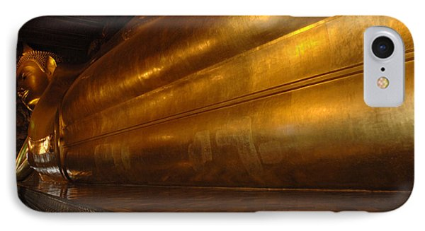Reclining Buddha Grand Palace Thailand IPhone Case by Bob Christopher