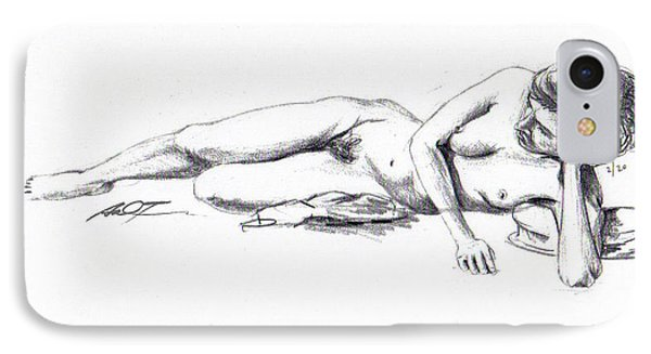 Reclining Drawing Model IPhone Case