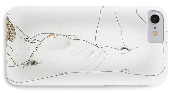 Reclining Female Nude Phone Case by Egon Schiele