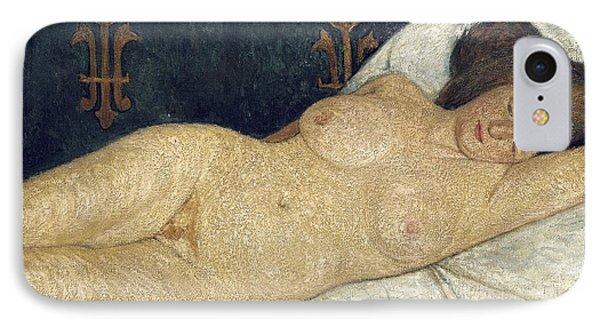 Reclining Female Nude Phone Case by Paula Modersohn-Becker