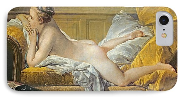 Reclining Nude IPhone Case by Francois Boucher