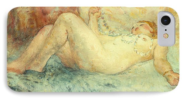 Reclining Nude Phone Case by Henri Lebasque