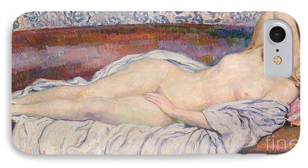 Reclining Nude  Phone Case by Theo van Rysselberghe