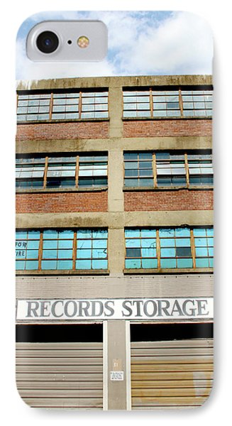 Records Storage- Nashville Photography By Linda Woods IPhone Case by Linda Woods
