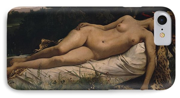 Recumbent Nymph IPhone Case by Anselm Feuerbach