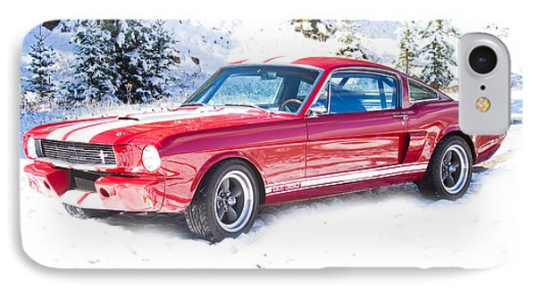 Red 1966 Ford Mustang Shelby IPhone Case