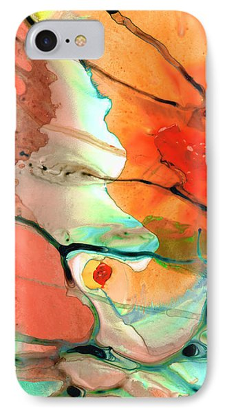 Red Abstract Art - Decadence - Sharon Cummings IPhone Case by Sharon Cummings