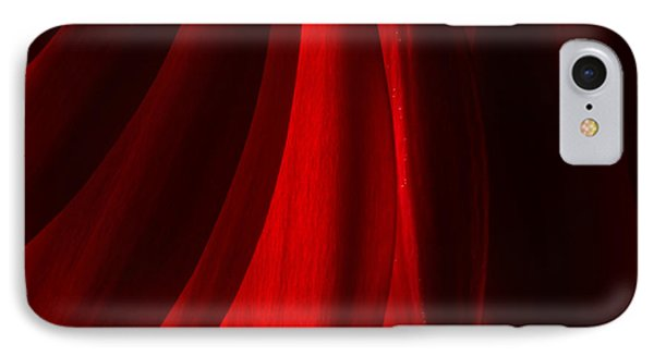Red Abstract Of Chrysanthemum Wildflower IPhone Case by John Williams