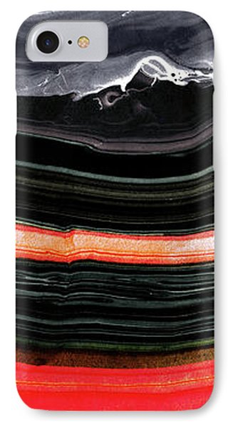 Red And Black Art - Fire Lines - Sharon Cummings IPhone Case by Sharon Cummings