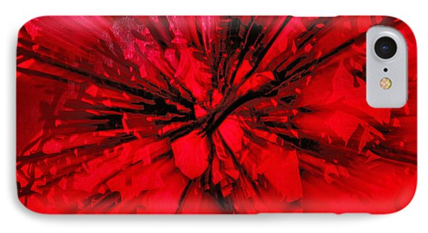 IPhone Case featuring the photograph Red And Black Explosion by Susan Capuano