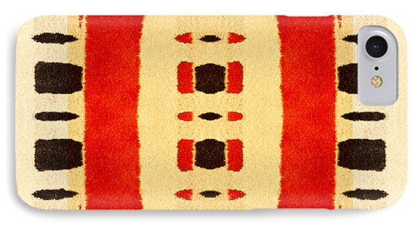 Red And Black Panel Number 1 IPhone Case by Carol Leigh