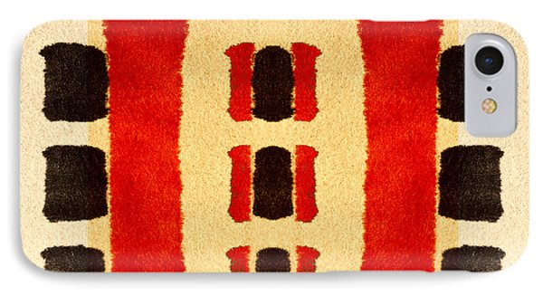 Red And Black Panel Number 3 IPhone Case by Carol Leigh