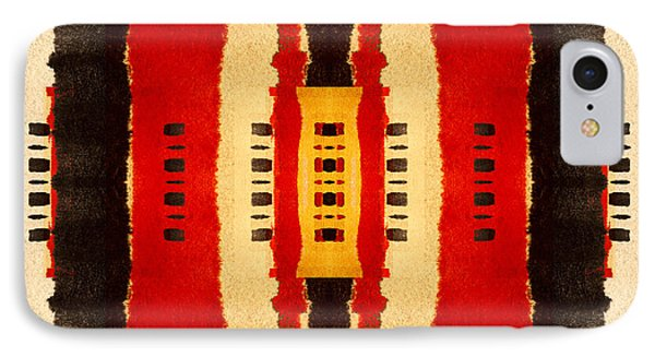 Red And Black Panel Number 4 IPhone Case by Carol Leigh