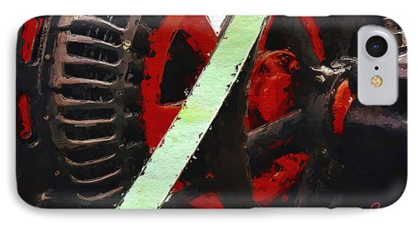 IPhone Case featuring the painting Red And Black Wheel by Joan Reese