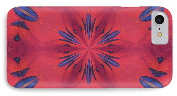 IPhone Case featuring the mixed media Red And Blue by Elizabeth Lock