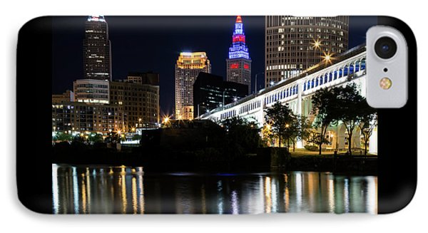 IPhone Case featuring the photograph Red And Blue In Cleveland by Dale Kincaid