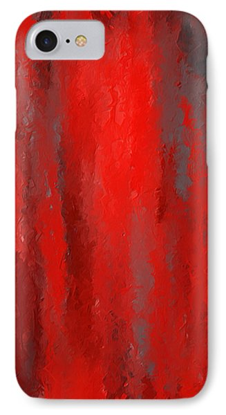 Red And Bold - Red And Gray Art IPhone Case by Lourry Legarde