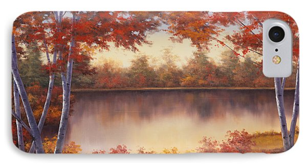 Red And Gold Phone Case by Diane Romanello