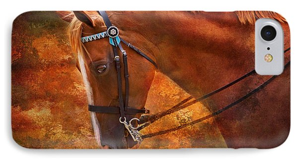 Red And Gold - Horse Art By Michelle Wrighton IPhone Case by Michelle Wrighton