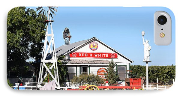 Red And White Food Stores IPhone Case by Barbara Snyder