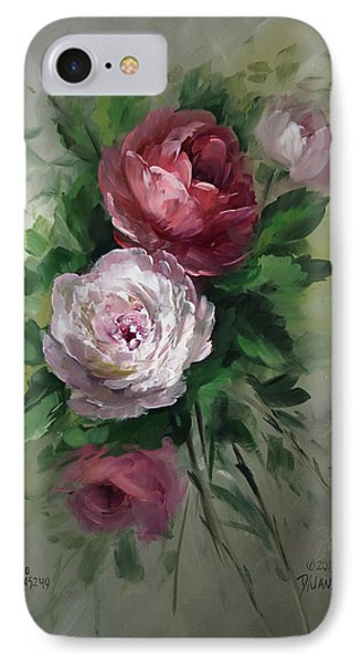 Red And White Roses Phone Case by David Jansen