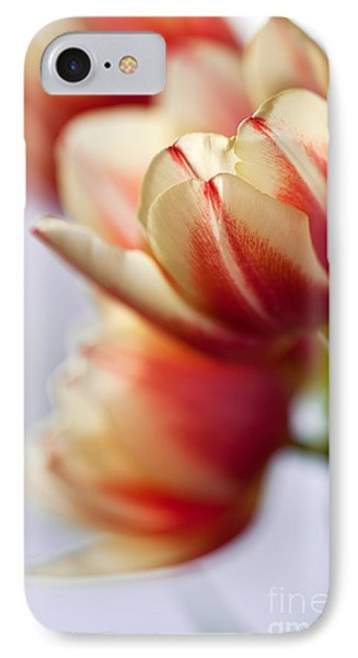 Tulip iPhone 7 Case - Red And White Tulips by Nailia Schwarz