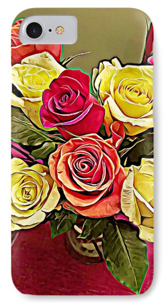 Red And Yellow Rose Bouquet IPhone Case