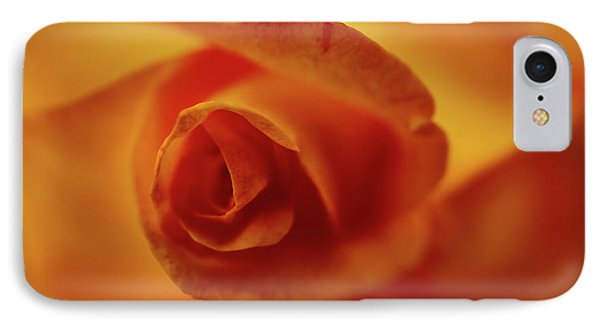 Red And Yellow Rose  IPhone Case by Kenneth Roberts