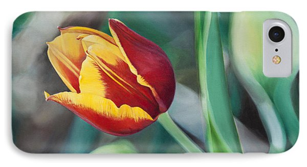 IPhone Case featuring the painting Red And Yellow Tulip by Joshua Martin