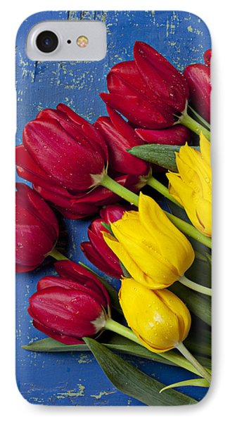 Red And Yellow Tulips IPhone Case by Garry Gay