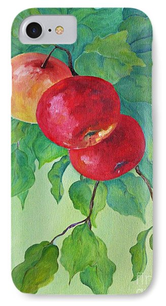 IPhone Case featuring the painting Red Apples by AmaS Art