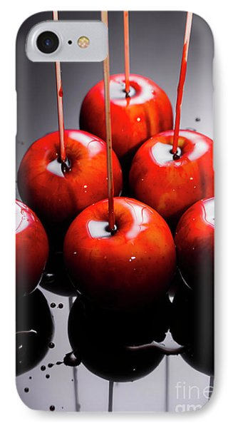 Red Apples With Caramel  IPhone Case by Jorgo Photography - Wall Art Gallery