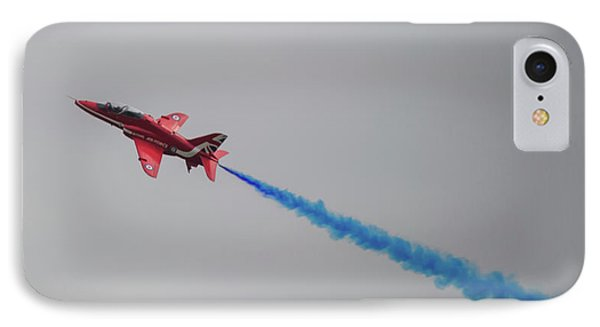 IPhone Case featuring the photograph Red Arrow Blue Smoke - Teesside Airshow 2016 by Scott Lyons