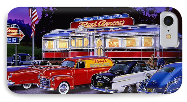 Red Arrow Diner Phone Case by Bruce Kaiser