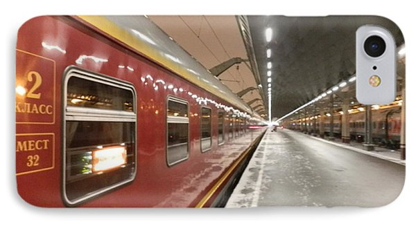 Red Arrow Express IPhone Case by Margaret Brooks