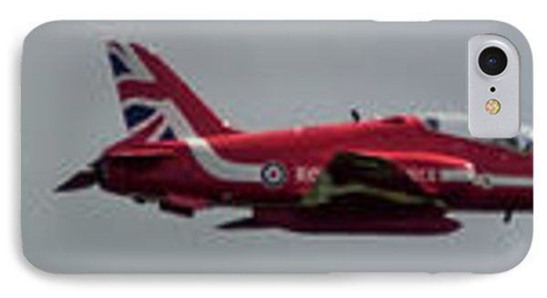 IPhone Case featuring the photograph Red Arrow Straight - Teesside Airshow 2016 by Scott Lyons