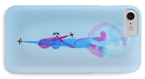 IPhone Case featuring the photograph Red Arrows Break by Gary Eason
