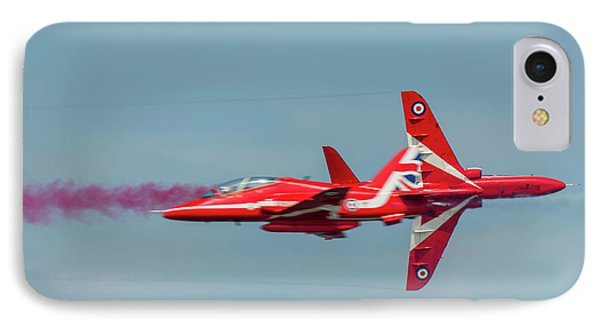 IPhone Case featuring the photograph Red Arrows Crossover by Gary Eason