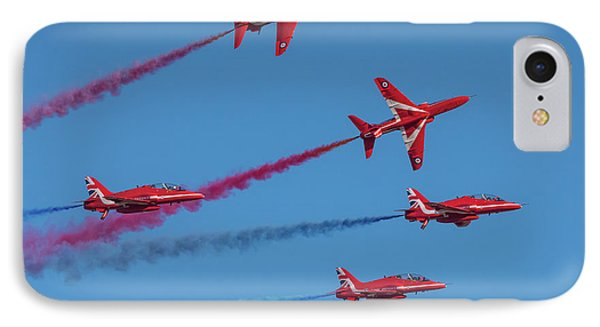 IPhone Case featuring the photograph Red Arrows Enid Break by Gary Eason