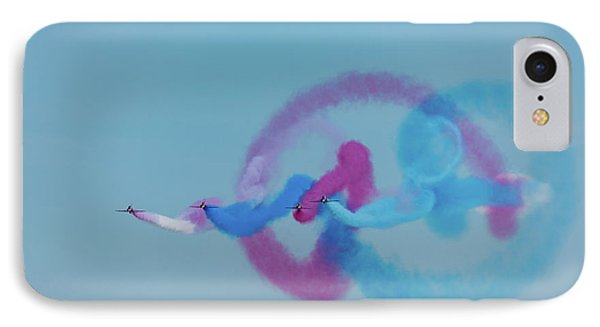 IPhone Case featuring the photograph Red Arrows Gypo Swirls by Gary Eason