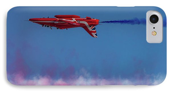 IPhone Case featuring the photograph Red Arrows Hawk Inverted  by Gary Eason